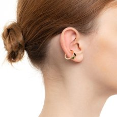画像2: Hirotaka ヒロタカ Bird Of Paradise Ear Cuff with Onyx & Chrom Diopside{-BJA} (2)