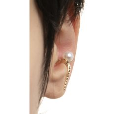 画像3: Hirotaka ヒロタカ Diamond & Pearl Inner Hook Pierce(Yellow Gold){-BJS} (3)