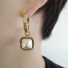 画像3: {SOLD}ADER.bijoux アデルビジュー CUTSTEEL baroque pearl hoop pierce (gold){-AHA} (3)