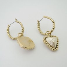 画像4: {SOLD}ADER.bijoux アデルビジュー CUTSTEEL baroque pearl hoop pierce (gold){-AHA} (4)