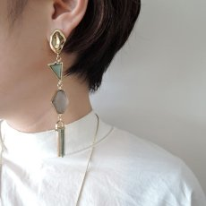 画像4: ADER.bijoux アデルビジュー VITRAIL long pierce(gold){-AIS} (4)