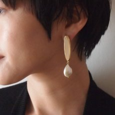 画像4: ADER.bijoux アデルビジュー BLOCK PEARL pearl pierce{-AIA} (4)