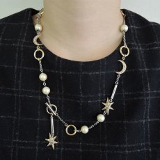 画像3: ADER.bijoux アデルビジュー MOON&STAR multi lariet (gold){-AHA} (3)