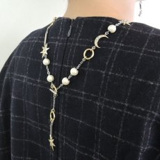 画像4: ADER.bijoux アデルビジュー MOON&STAR multi lariet (gold){-AHA} (4)