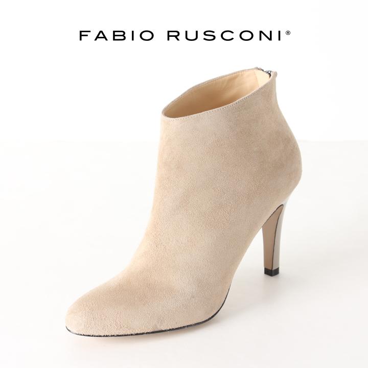 画像1: FABIO RUSCONI ファビオルスコーニ FIGARO CAMOSCIO スエードアーモンドトゥブーティー{-AHA} (1)