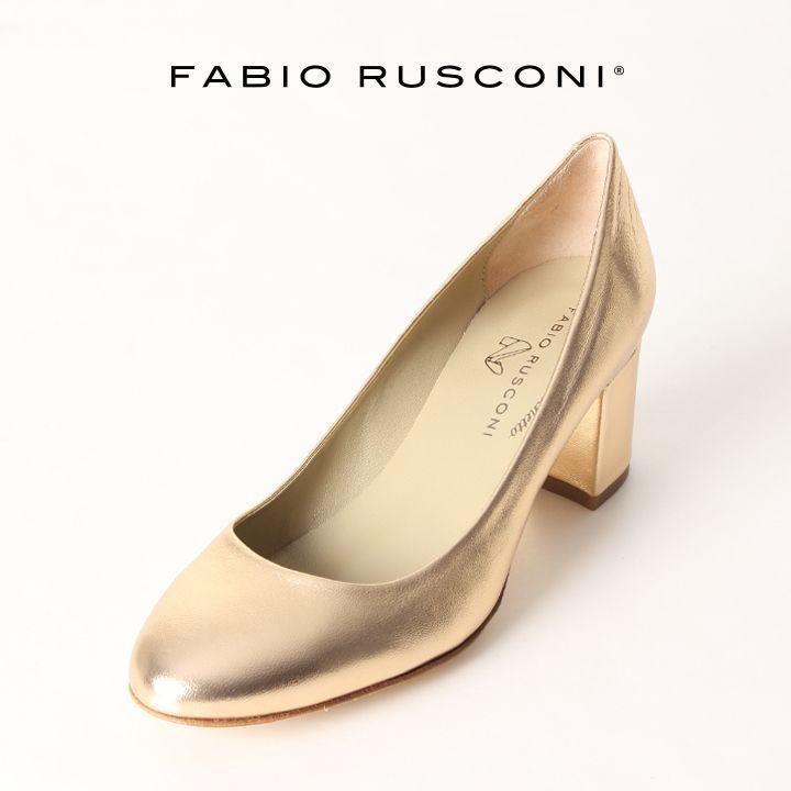 画像1: FABIO RUSCONI ファビオルスコーニ SOFIA 167 LUXOR サケットチャンキーヒールパンプス{-AIS} (1)