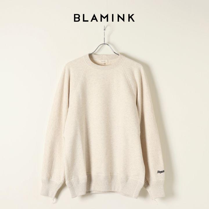 画像1: 【Regular item】BLAMINK ブラミンク 吊裏毛ロゴロングスリーブプルオーバー{7912-222-0029/7912-222-0034-TEI} (1)