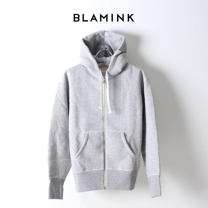 画像1: 【Regular item】BLAMINK ブラミンク コットン 吊裏毛 パーカ{7912-299-0005-GRY} (1)