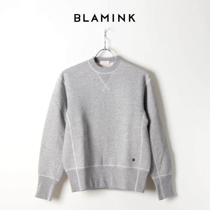 画像1: 【Regular item】BLAMINK ブラミンク コットン吊裏毛プルオーバー{7912-299-0006-GRY} (1)