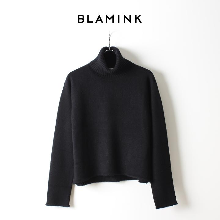 画像1: BLAMINK ブラミンク カシミヤ9Gタートル{7913-106-0104-BLK-AHA} (1)
