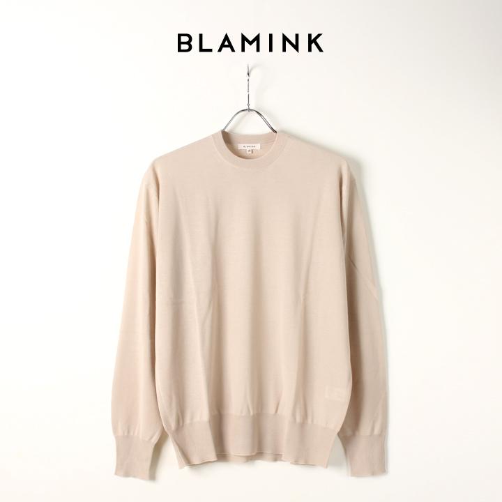 画像1: BLAMINK ブラミンク カシミアFF33G ウィメンズ クルーネックロングスリーブ{7913-108-0150-BEG-AIA} (1)
