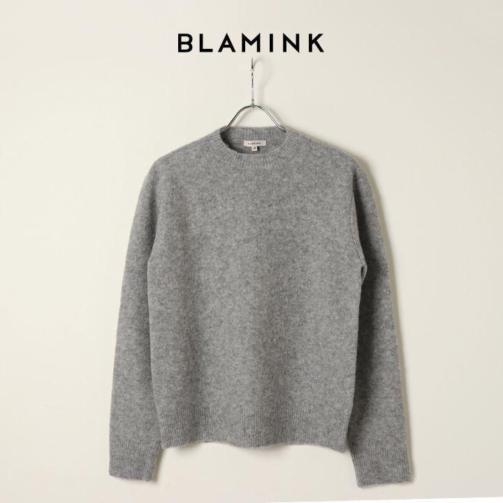 画像1: BLAMINK ブラミンク ウールナイロンエンブロニット{7913-231-0193-GRY-BJA} (1)