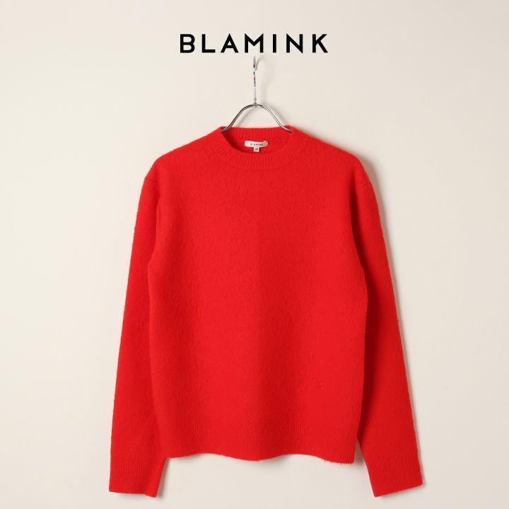 画像1: BLAMINK ブラミンク ウールナイロンエンブロニット{7913-231-0193-RED-BJA} (1)