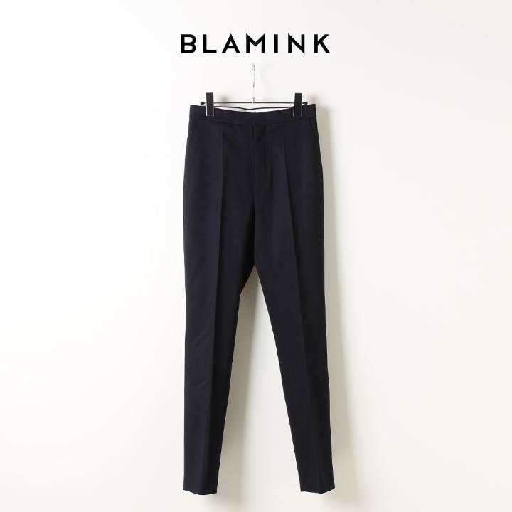 画像1: BLAMINK ブラミンク ウールストレッチ スリムパンツ{7914-230-0136-NAVY-AIA} (1)