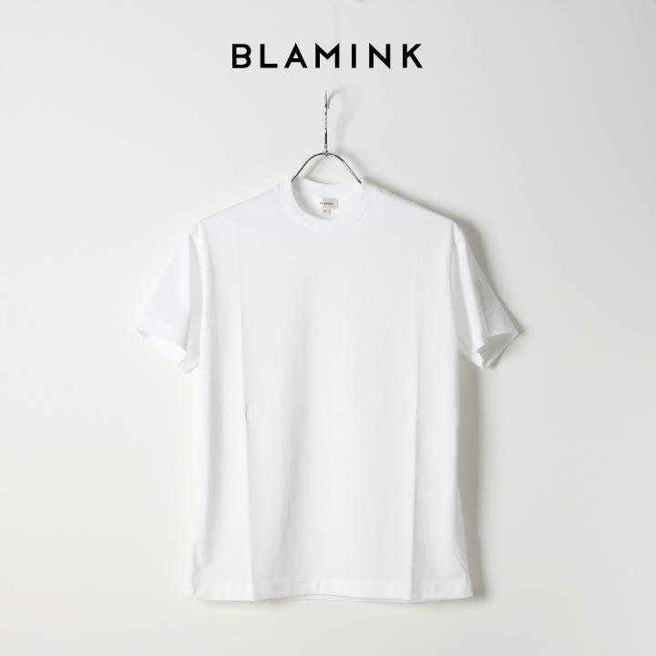 画像1: 【Regular item】BLAMINK ブラミンク コットンクルーネック刺繍ショートスリーブTシャツ{7917-222-0010-WHT-BJS} (1)