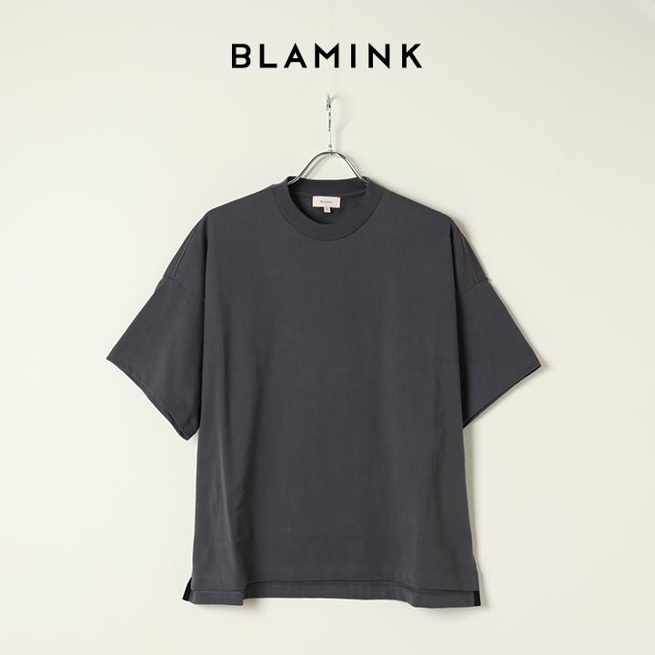 画像1: 【Regular item】BLAMINK ブラミンク コットンクルーネック オーバースリーブTシャツ{7917-299-0026-DGY/7917-299-0012-DGY-BAS} (1)