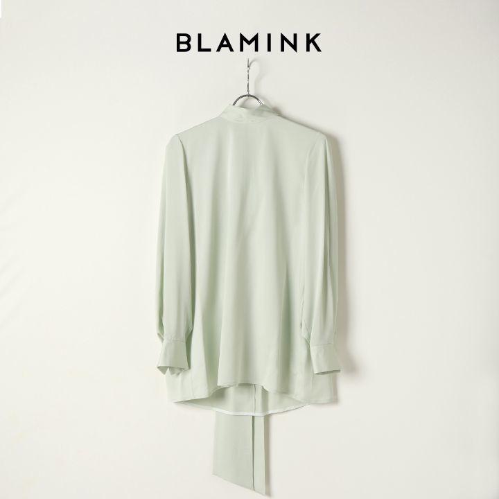 画像1: 【 40%OFF セール|99,000円→59,400円】 BLAMINK ブラミンク シルクスカーフカラーブラウス{7921-230-0116-LIM-BJA} (1)