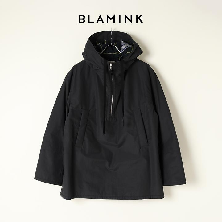 画像1: BLAMINK ブラミンク コットンナイロンチェックアノラック{7925-230-0285-GRY-BAA} (1)