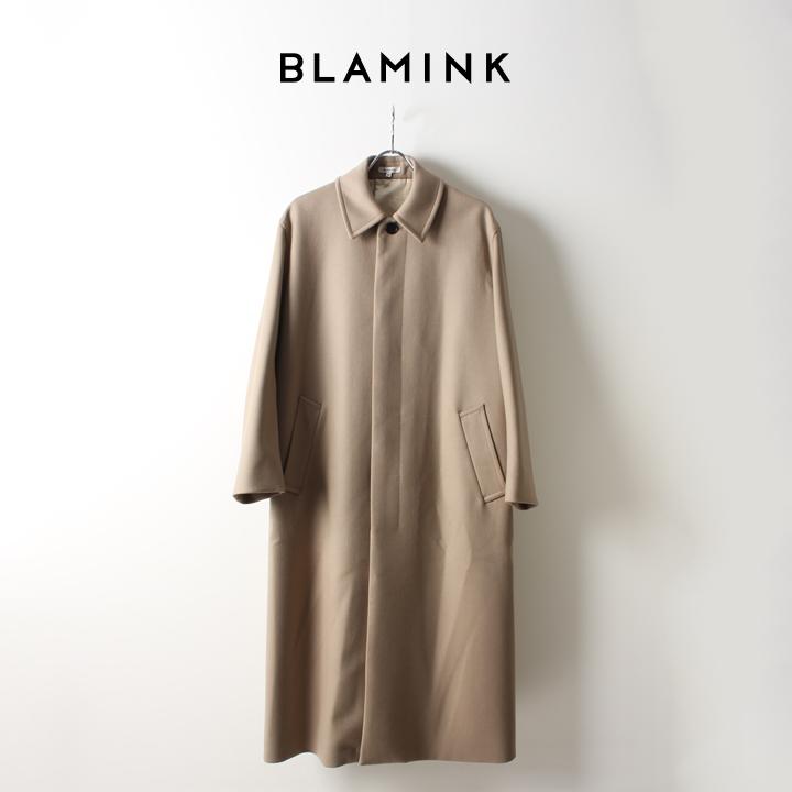 画像1: BLAMINK ブラミンク ウールステンカラー ロングコート{7925-299-0158-BEIGE-AIA} (1)