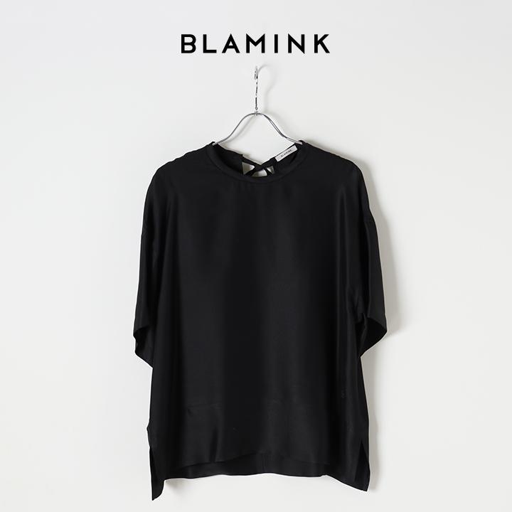 画像1: 【Regular item】BLAMINK ブラミンク シルク インティメイト ショートブラウス{7939-230-0004-BLK-BJS} (1)