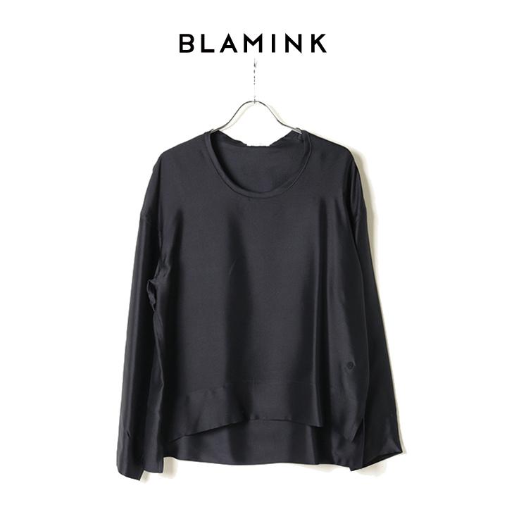 画像1: BLAMINK ブラミンク シルクインティメイトブラウス{7939-299-0001-NAV-BAS} (1)