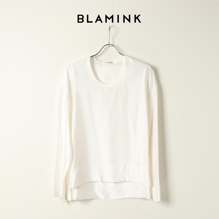 画像1: BLAMINK ブラミンク シルクインティメイトブラウス{7939-299-0001-WHT-BAS} (1)