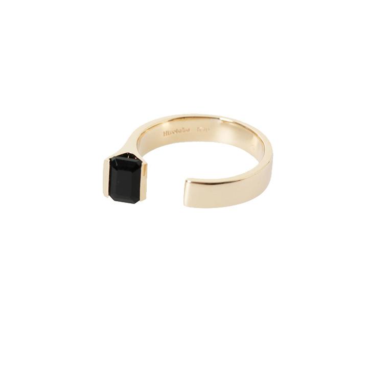 画像1: Hirotaka ヒロタカ Bird of paradise Stone Cuff Ring{-BAS} (1)