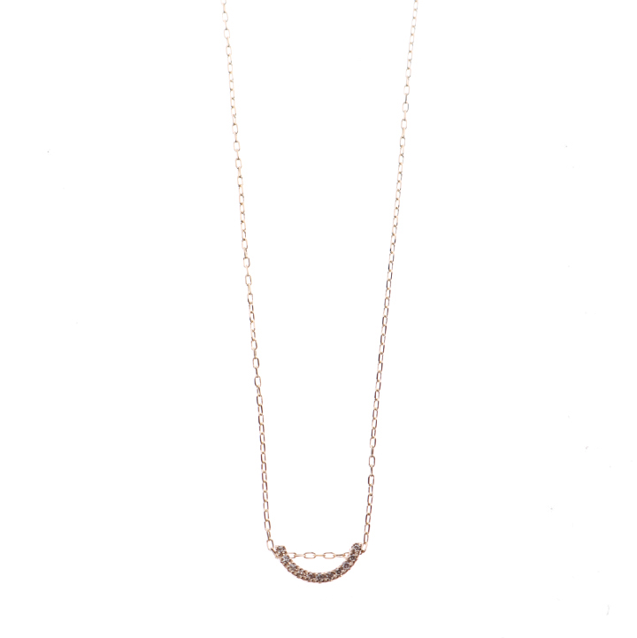 画像1: Hirotaka ヒロタカ Bow Diamond Necklace S(Yellow Gold){-BJA} (1)