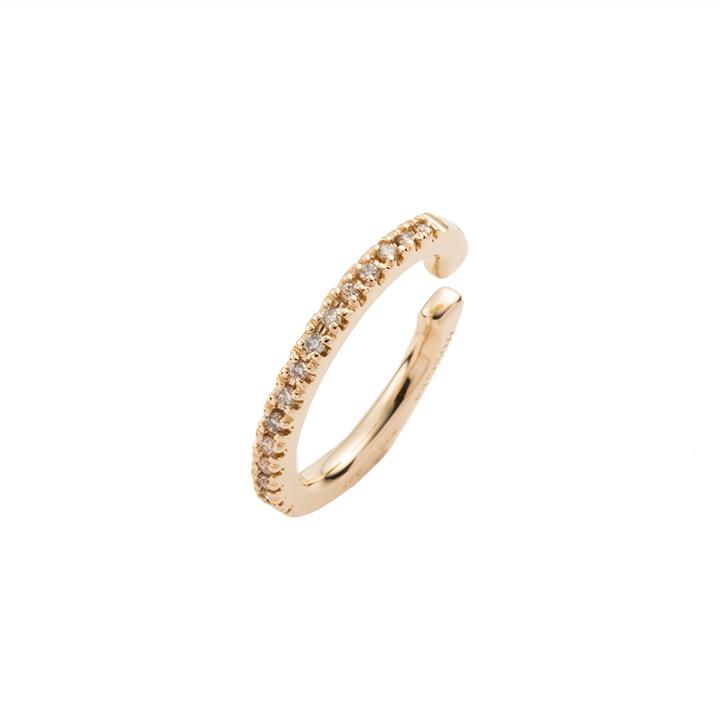 画像1: Hirotaka ヒロタカ Diamond Ear Cuff(Yellow Gold){-BJS} (1)