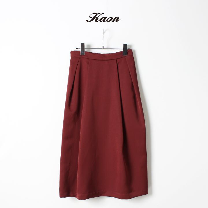 画像1: Kaon カオン Double Satin Skirt{-AGA} (1)