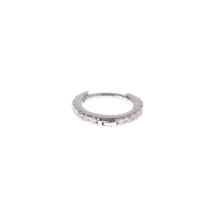 画像1: Hirotaka ヒロタカ Diamond Hoop Pierce(WhiteGold){-AIA} (1)