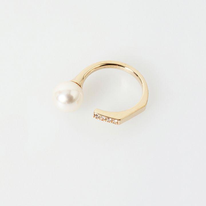画像1: Hirotaka ヒロタカ Manhhatan Pearl Diamond Ring{-BAS} (1)