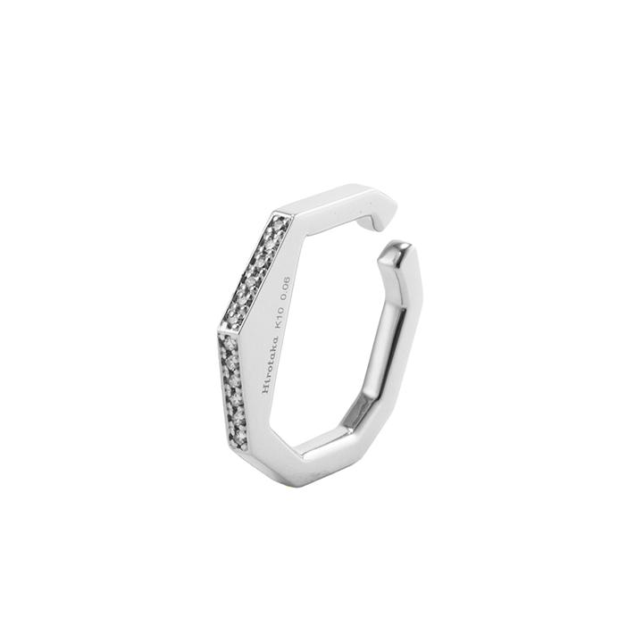 画像1: Hirotaka ヒロタカ Manhattan Diamond Ear Cuff{-BAS} (1)