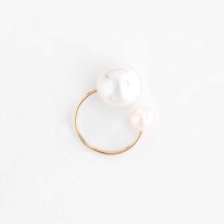 画像1: Hirotaka ヒロタカ South Sea Pearl Ear Cuff(Yellow Gold){-BJS} (1)