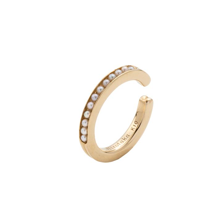 画像1: Hirotaka ヒロタカ Caviar Pearl Ear Cuff Msize{-BAS} (1)