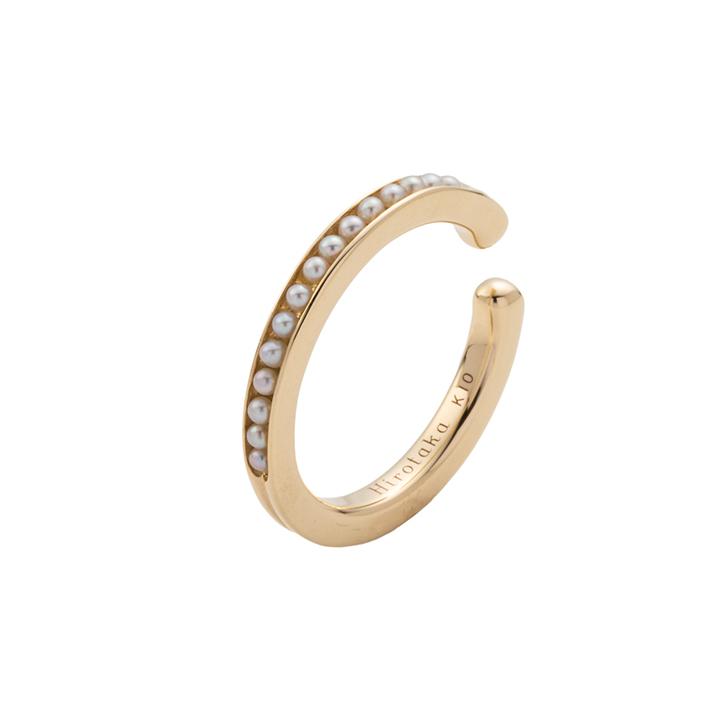 画像1: Hirotaka ヒロタカ Caviar Pearl Ear Cuff Lsize{-BAS} (1)
