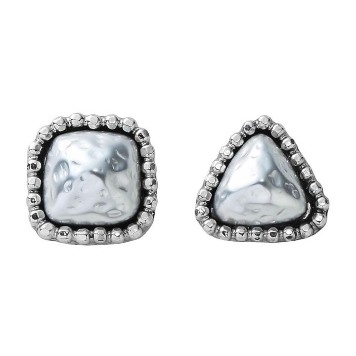 画像1: ADER.bijoux アデルビジュー CUTSTEEL baroque pearl pierce(silver){-AHA} (1)