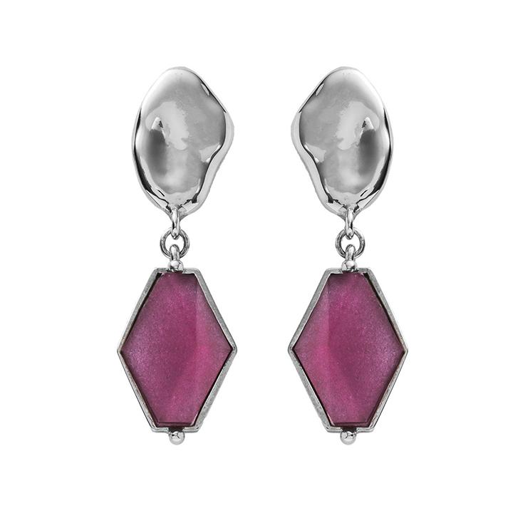 画像1: ADER.bijoux アデルビジュー VITRAIL diamond pierce(silver){-AIS} (1)