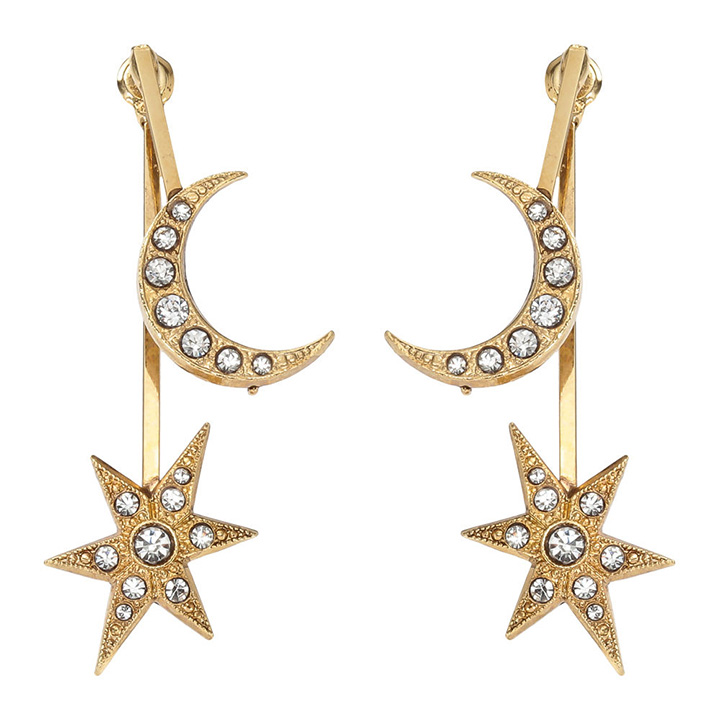 画像1: ADER.bijoux アデルビジュー STAR&MOON solid pierce{-AHA} (1)