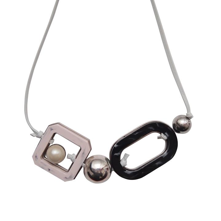 画像1: ADER.bijoux アデルビジュー RETRO lether adjaster necklace{-AHA} (1)